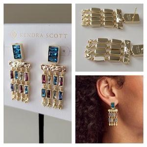 NWT Kendra Scott Jack Gold Earrings Gift Receipt